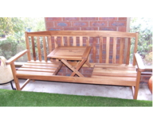 Blackwood Bench with Pop Up Table