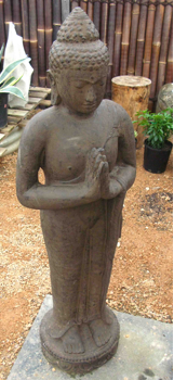 Cast Stone - Antique Standing Buddha